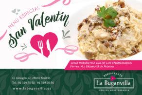 Menú especial San Valentín 2020
