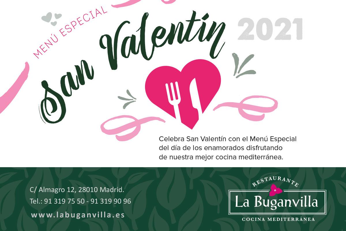 Menú especial San Valentín 2021